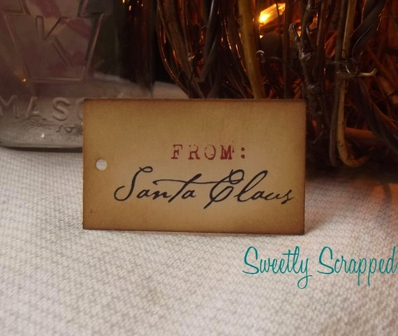 From Santa Claus, Christmas Gift Tags