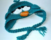 Newborn to Toddler -Sleepy Bird Crochet Hat - Choose your Colors -Made to Order