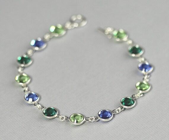 custom birthstone bracelet personalized bracelet