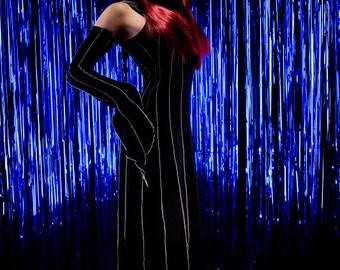 Druid Dress ~ Floor Length Dress ~ Long black Dress ~ Made to Measure ~ Halloween ~ Samhain ~ Handfasting ~ Wedding ~ Clubwear ~ Gothic
