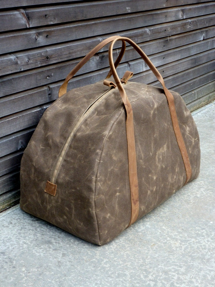 Waxed Canvas Weekend Bag Weekender Duffle Bag By