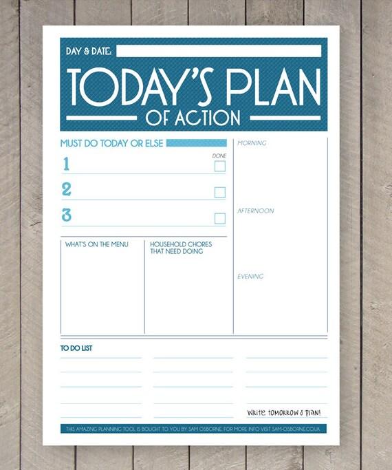 printable day planner organiser agenda
