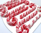 "8 Custom Artisan Candy Canes, Chunky 10"" size, Your choice of color and flavor"