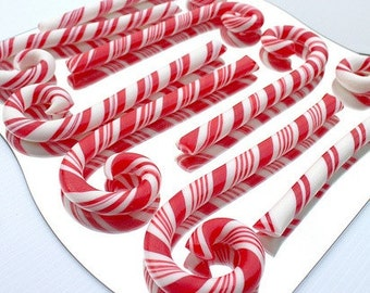 """8 Custom Artisan Candy Canes, Chunky 10"""" size, Your choice of color and flavor"""
