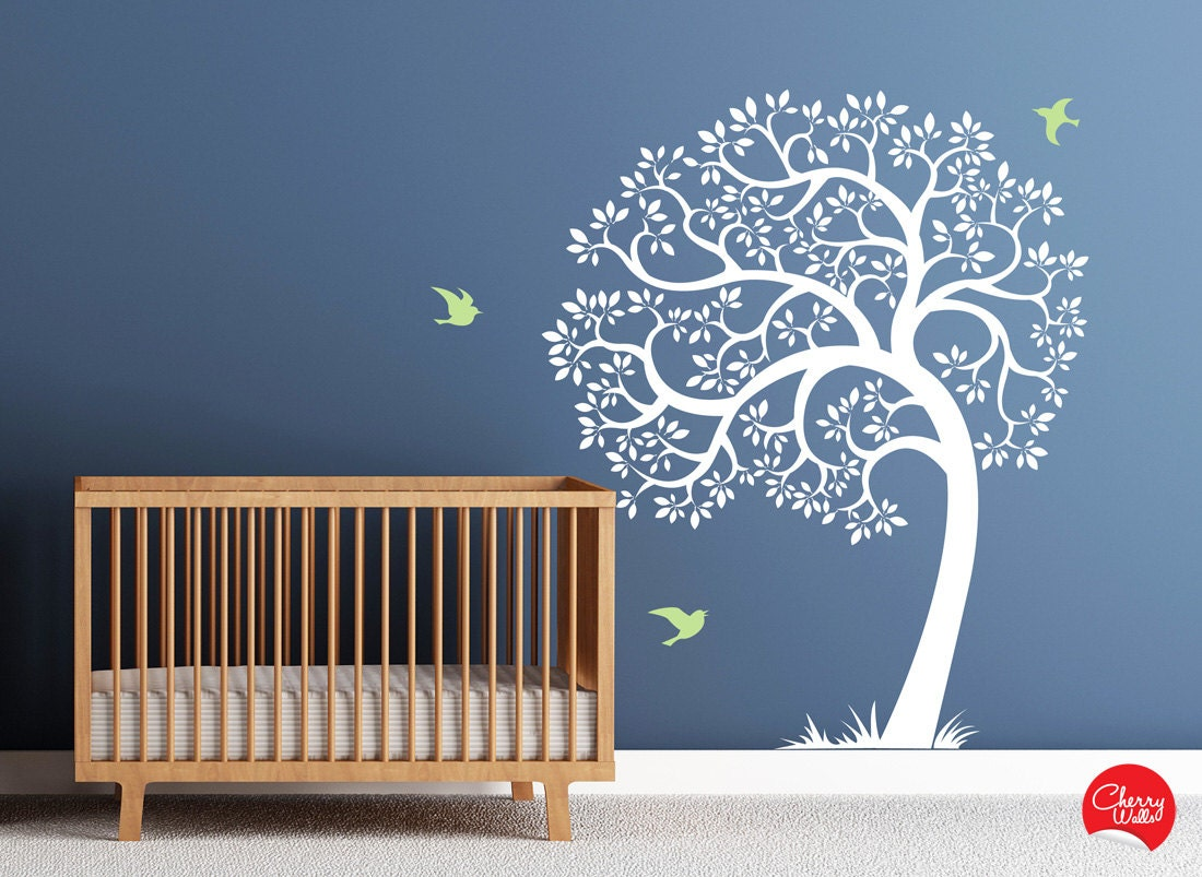 Tree wall decal amazing tree removable vinyl decal nursery zoom amipublicfo Choice Image