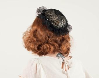 50% OFF SALE / vintage 1980s hat / fascinator / Glitz