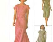1980s Stretch Knit Maxi Dress Pattern Simplicity 7658 (Womens size 8)