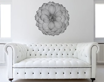 Giant Dahlia Flower Wall Sticker Decal
