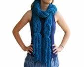 Braided Fashion Scarf  in Teal Blue - Fall Winter Fashion - Women Teens Accessories - Wrap - Cowl