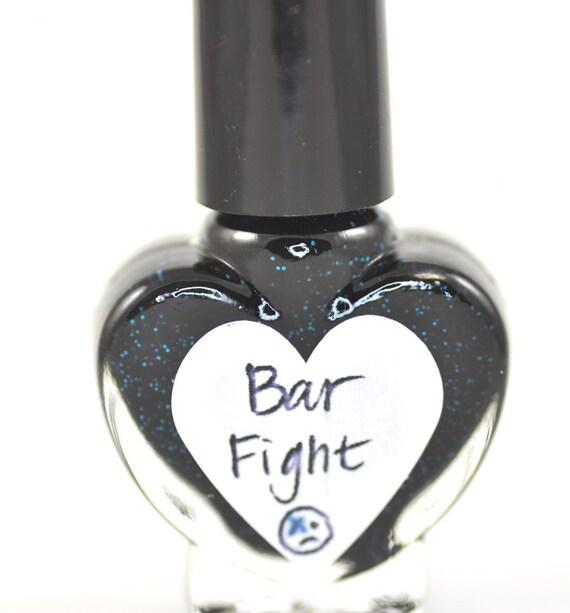 Bar Fight Black and Blue Nail Polish 5ml Mini Bottle