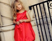 Elegant  Red Bubble  Dress