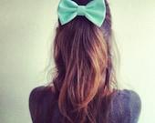 mint bow - big hair bow