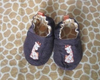 giraffe reversible baby shoes