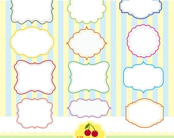 Digital Frames Clip Art Set for -Personal and Commercial Use-paper crafts,card making,scrapbooking,web design