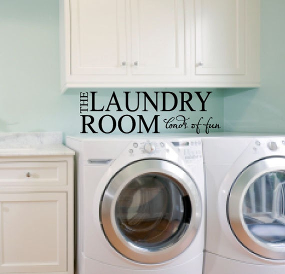 Laundry Room Wall Decals Loads Of Fun Vinyl By Studio378decals