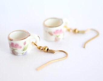 Porcelain Teacup Earrings