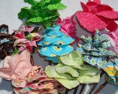 One Dozen Long-Stemmed Fabric Roses In A Rainbow Of Colors. These Beauties Will Last Forever
