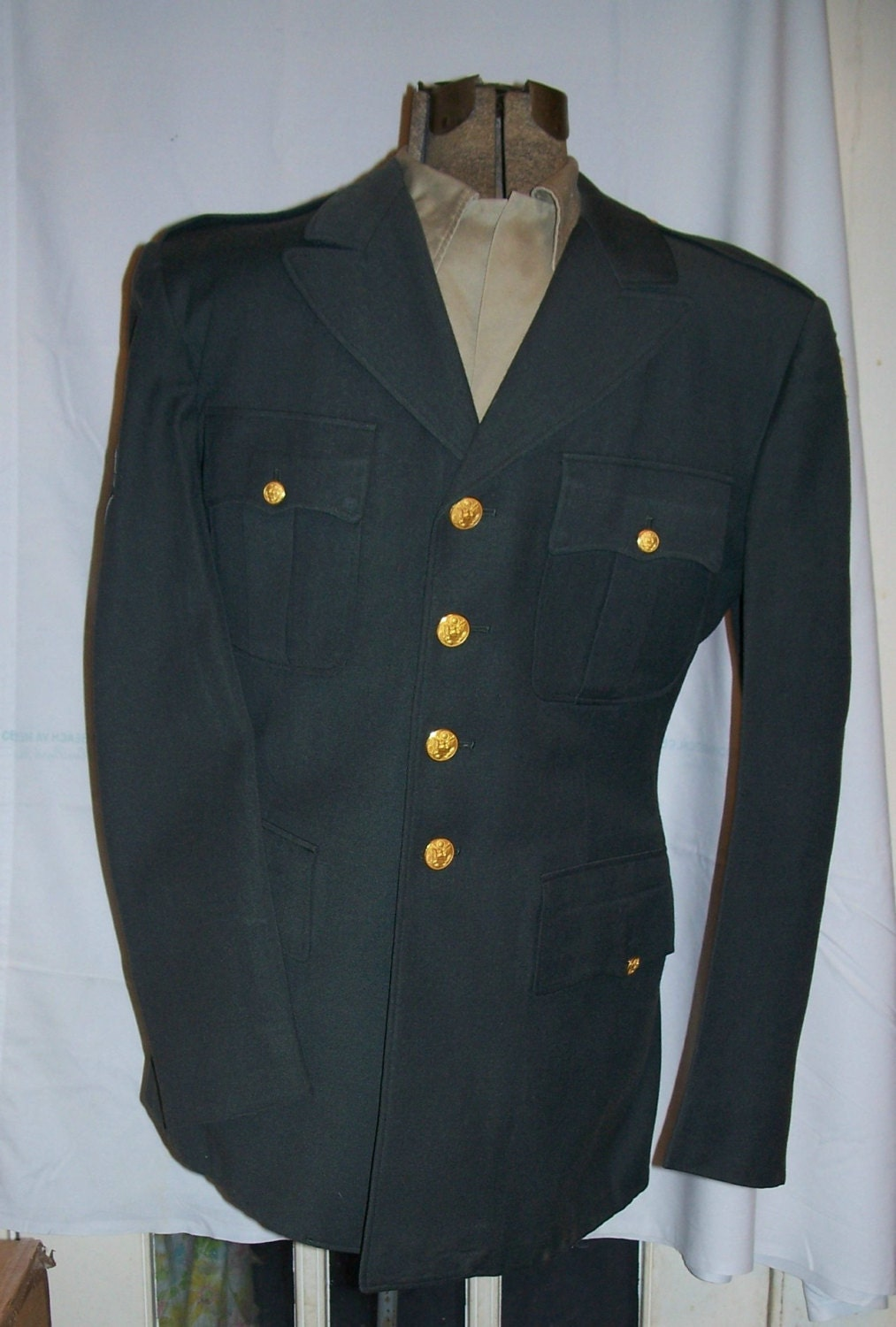 Vintage U S 1950s Army Dress Uniform Green Military By