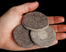 felted wool exfoliating facial scrubs - all natural cleansing - set of three