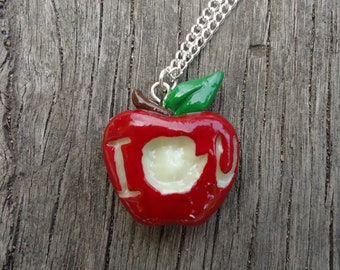 IOU Apple Necklace - Moriarty, BBC Sherlock