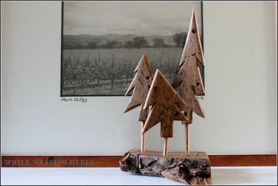 Trio Of Barn Wood Christmas Trees By Whilewearingheels On Etsy