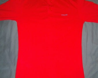 VINTAGE Ocean Pacific OP Button Style Polo SMALL Red Mens Shirt