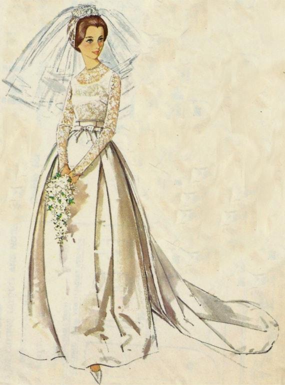 Vintage Wedding Dress Simplicity Pattern 5343 Size 12 Free