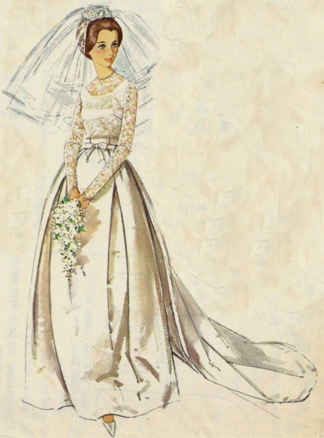 vintage wedding dress simplicity pattern 5343 size 12 free