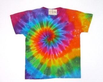 SALE! Child Size Classic Rainbow Spiral Tie Dye Shirt