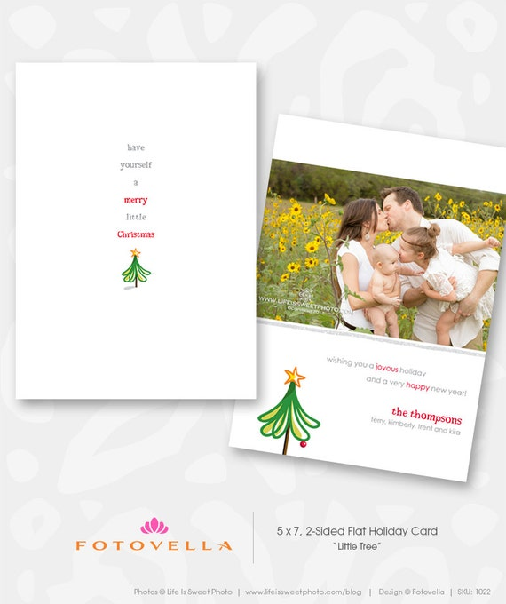 Holiday card template christmas card photoshop template for Photoshop holiday card templates