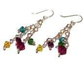 clara - silver heart earrings by lilla stjarna - gifts under 25 - simple everyday jewelry - small heart earring, silver wire hearts