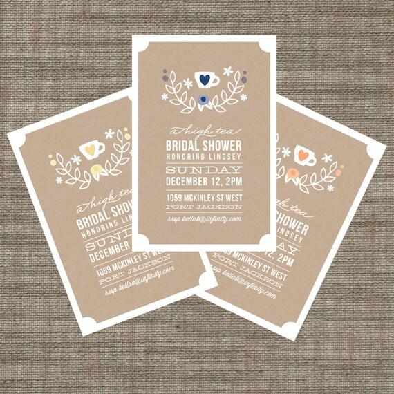 Items Similar To High Tea Bridal Shower Invitation