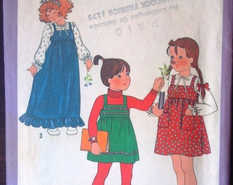 Simplicity 8712 Pattern for Girls Jumper Pattern & Blouse, Size 6, from 1978