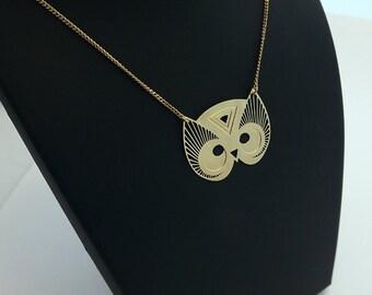"Necklace ""TOTEM OWL"" gold"