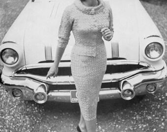 Ribbon Ensemble - Vintage 50s 60s Jacky O Suit - Crochet Ribbon - PDF eBook