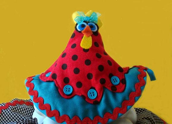 Pot Holder Kitchen Decoration - Chicken chunky pot and pan pot holder oven mitt wedding gift hostess gift