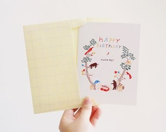 Happy Birthday Forest Card(Set of 2)