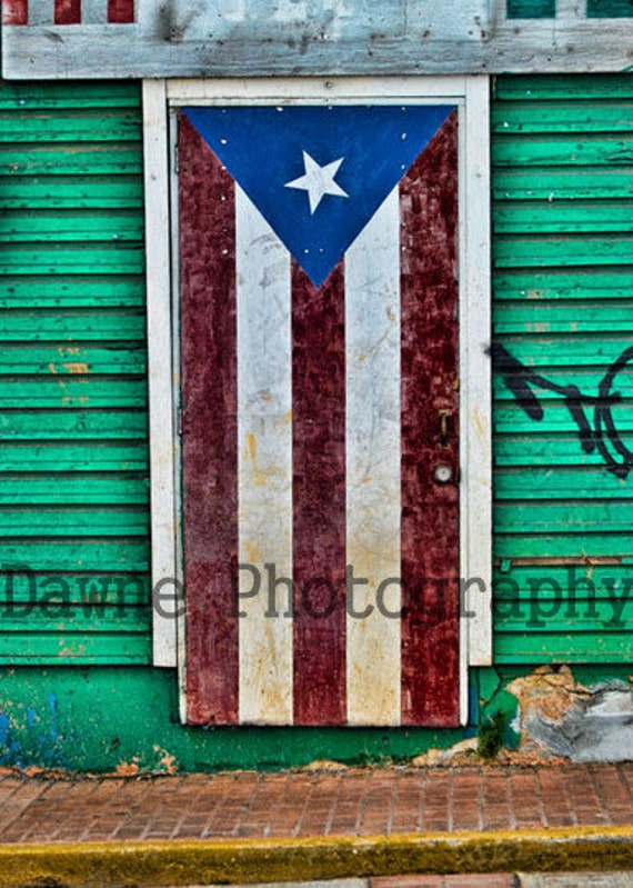 Items similar to puerto rico door with painted flag with for Puerto rico home decorations