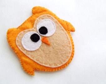 Felt Fridge Magnet Owl Magnet Felt owl magnet Felt animal magnet Felt bird magnet