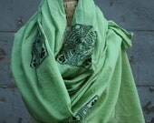 Scarf,  Women's Irish Celtic Scarves, Spring Accessories. Large