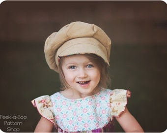 Newsie Cap PDF Pattern: Boys Hat Pattern, Girls Hat Pattern, Baby Hat Pattern