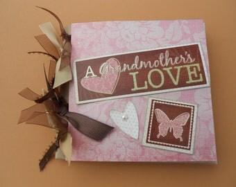 Gift for grandma     Grandmas scrapbook album pre made Grandmothers brag book album pre made gift for grandma