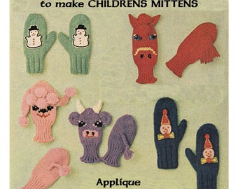 Knitting Pattern For Puppet Mittens : Popular items for animal mittens on Etsy