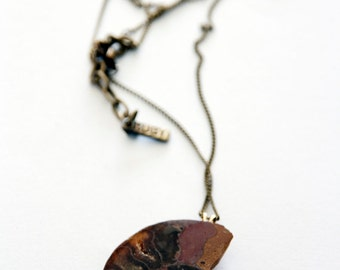 Ammonite Fossil Necklace - Geological Jewelry.