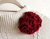 Crochet Brooch - Corsage Brooch - Carnation Flower