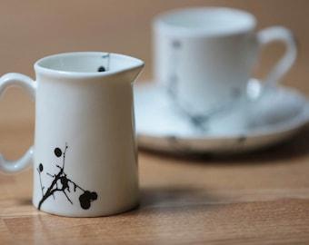 Twig Bone China Quarter Pint Jug   Milk Jug   Mini Jug   Creamer