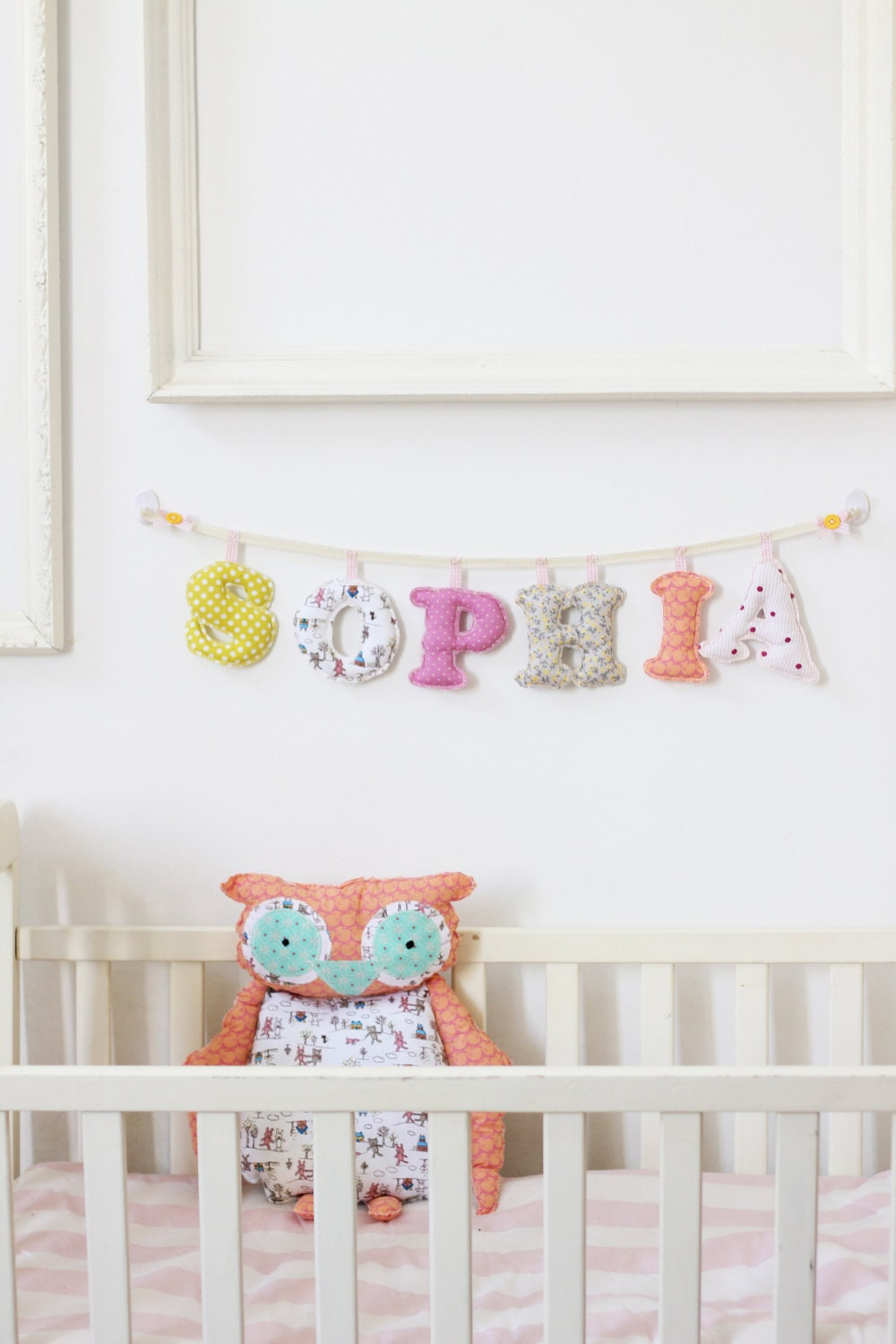 Baby Name Banner 6 Letters Girls Room Made To Order Girl Wall Decor