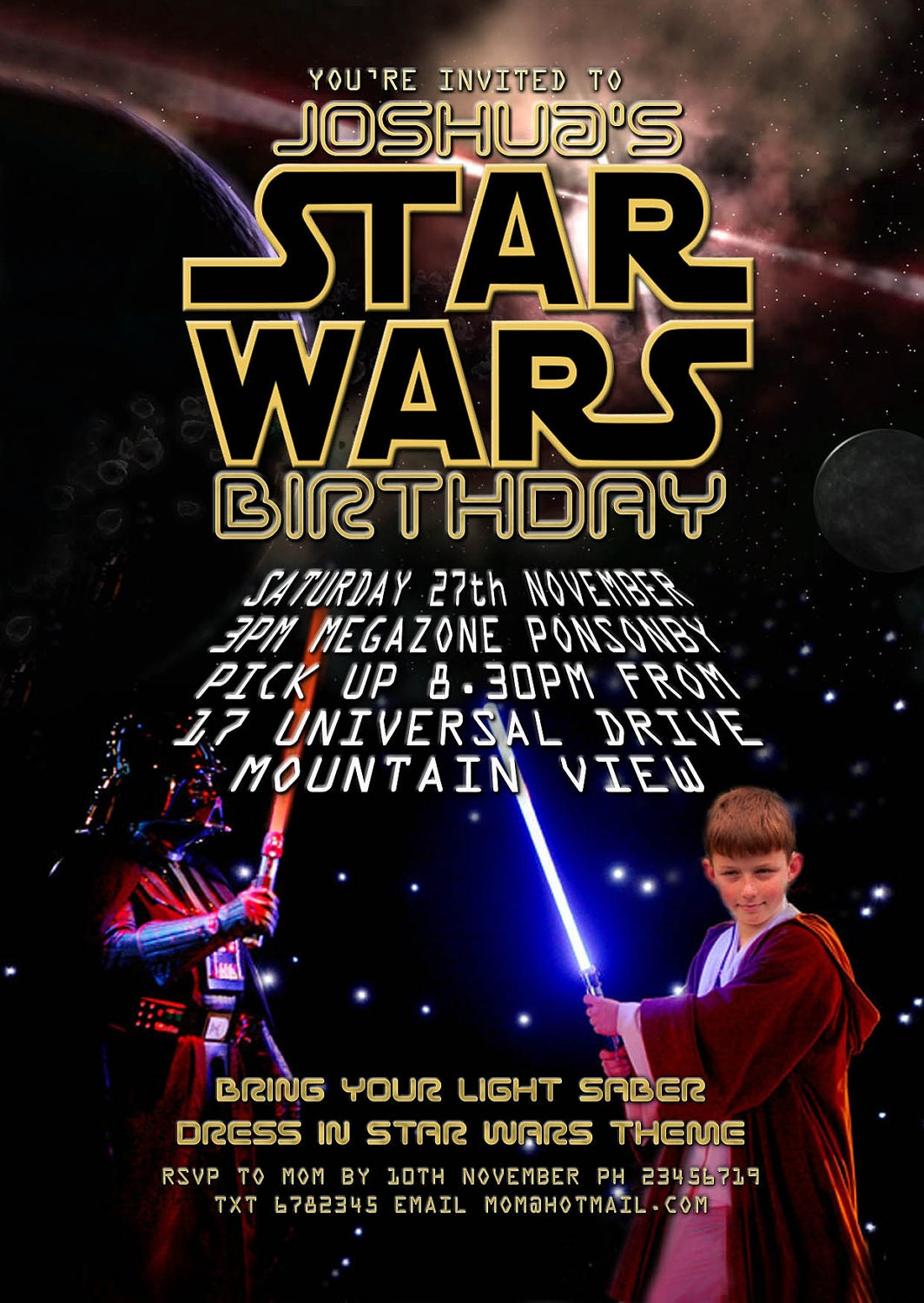 Current image in printable star wars invitation