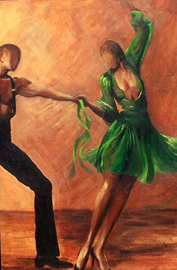 Items Similar To Dance Art Salsa Dancers Giclee Art Print