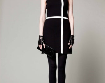 Black / White Shift Dress